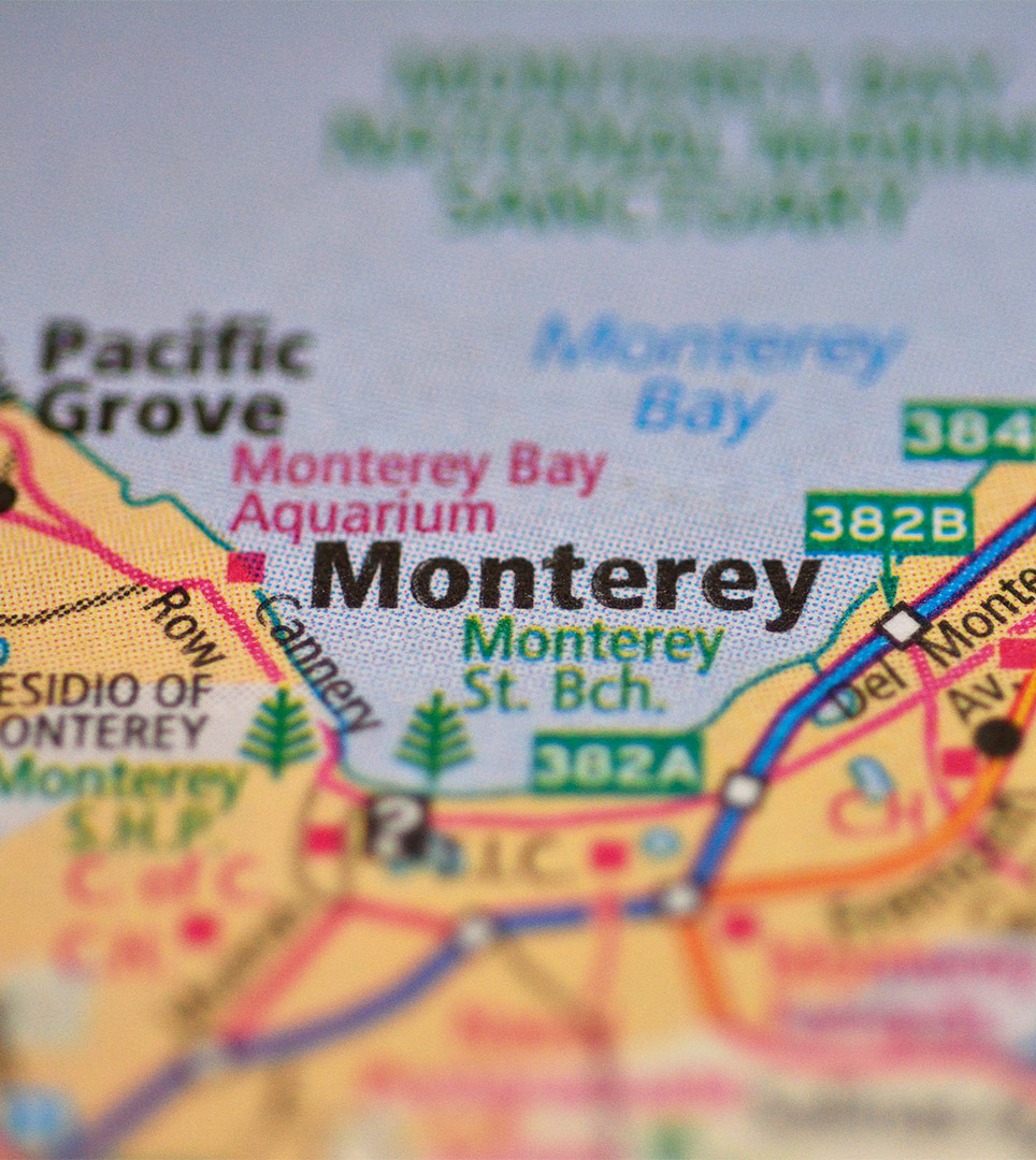 Map & Directions to the Lone Oak Lodge in Monterey
